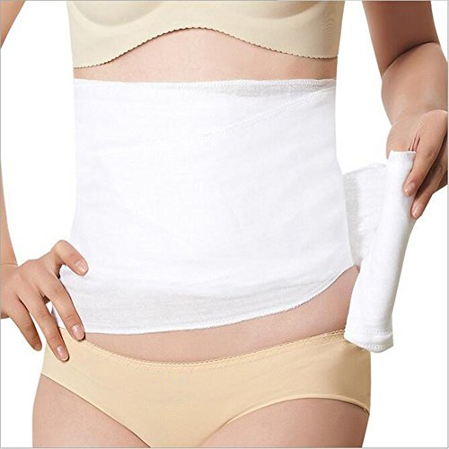 HUIUNY Maternity Postpartum Abdomen with Breathable Double-Deck Pure Cotton Gauze Corset Belly Band Bandage Girdle Shapewear Body Belt Pregnancy Recovery Abdomen Belt ()