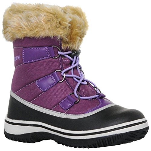 Alpina Kids Boots (ALPINE Girls' Snow Boot, Purple, US4.5)