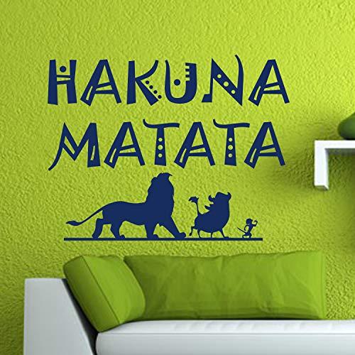 (Wall Decals Hakuna Matata Wall Decal Lion King Simba Timon Pumbaa Walt Disney Vinyl Sticker Home Room Bedroom Decor Nursery Poster Art Mural Made in USA)