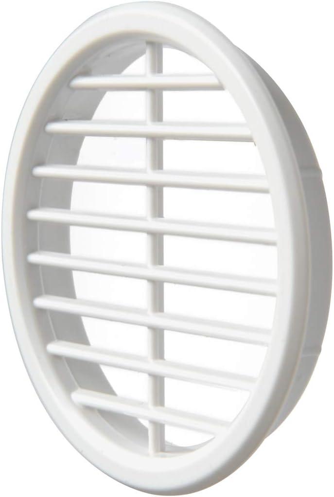 Rejilla de ventilaci/ón redonda de pl/ástico para integrar di/ámetro 68 mm La Ventilazione T6B color blanco