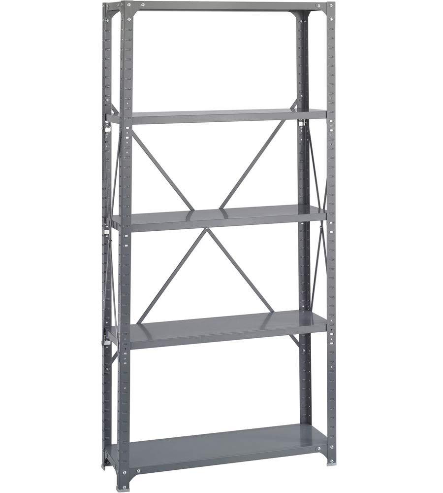 K&A Company 5 Shelf Storage Rack, 36'' x 75'' x 12'' x 22 lbs, 36 W x 12 D x 75 H