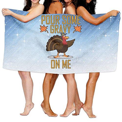 Qyahooshy Bath Towel Pour Some Gravy On Me Customize Quick Dry Large Swim Beach Towels