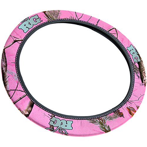 Realtree Girl Pink Neoprene Steering Wheel Cover (Realtree Pink APC Camo, Sold Individually) (Pink Camaro Steering Wheel Cover compare prices)