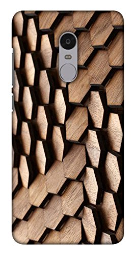 Blutec Wooden Flips Design Printed Polycarbonate Back Cover for Xiaomi Redmi Note 4  Brown