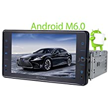 JOYING Intel Android 6.0 Marshmallow Quad Core Single Din Car Stereo Head Unit Receiver Support Bluetooth 4.0 Navigation Internet RDS Radio