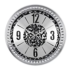 SMC 18-inch Diamond Infinity - Round Wall Clock, Unique Decorative Clock, Metal Frame