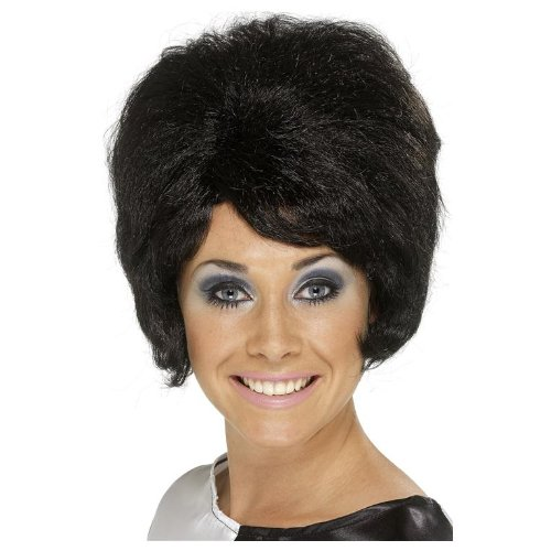 [60's Beehive Wig Costume Accessory] (Black Beehive Wig)