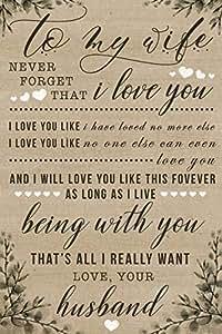 Amazon.com: speedy orders Classic Love Quotes Sign, Love ...