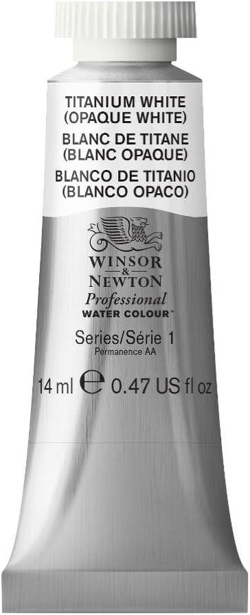 Winsor & Newton Professional Water Colour Paint, 14ml tube, Titanium White