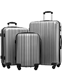 Merax Hylas 3 Piece Hardshell Spinner Luggage Set