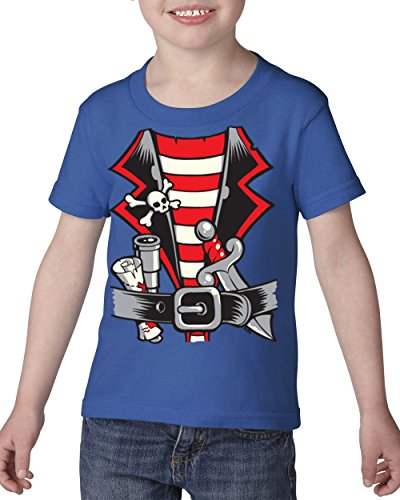 Pirate T Shirt Pirates Costume Halloween Birthday Party Gift Heavy Cotton Toddler Kids T Shirt Tee Clothing