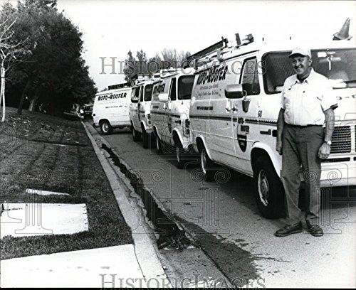 1995 Press Photo Joe Bristol, owner of Roto-Rooter of Contra Costa, - Bristol Costa