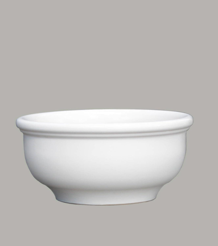 Großer Pflanztopf Pflanzkübel frostsicher rund Ø 55 x 27 cm, Farbe weiß, Form 011.055.04 Blumenkübel für Draußen und Innen - Qualität von Hentschke Keramik