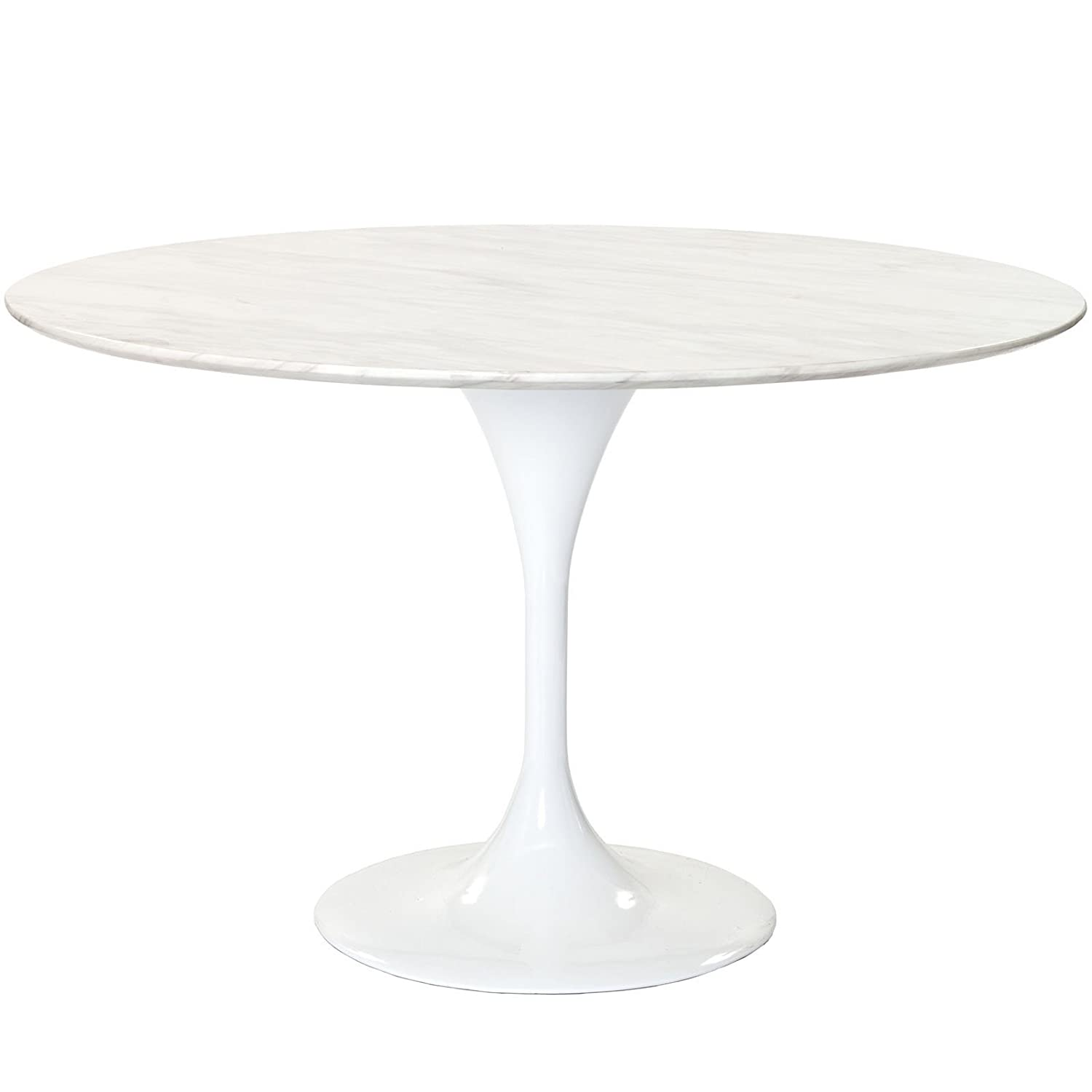 "Amazon Modway 48"" Eero Saarinen Style Tulip Dining Table with"