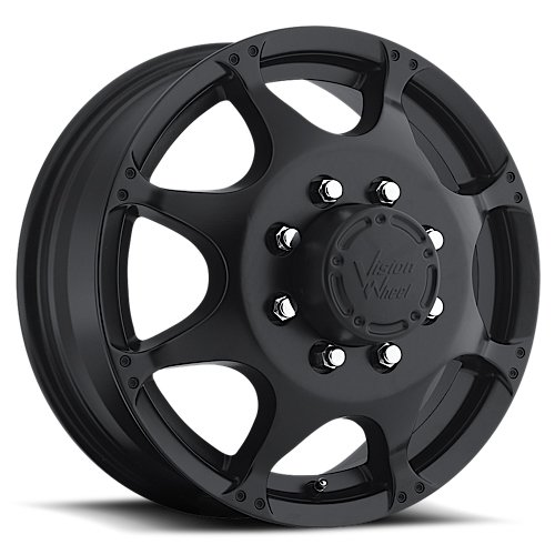 VISION 715 Crazy Eight Matte Black Front Wheel with Paint...