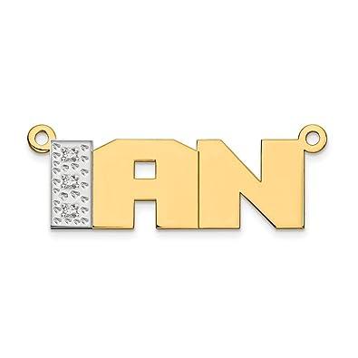 Amazon Com Jewelry Pendants Charms Personalized 10k And Rhodium