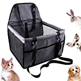 Cheap HankRobot Portable Dog Pet Car Seat Dog Cat Booster seat Foldable Bag Seat Belt Dog Carrier Safety Stable Puppy Kitty Travel Clip on Leash up to 25lbs (Grey)