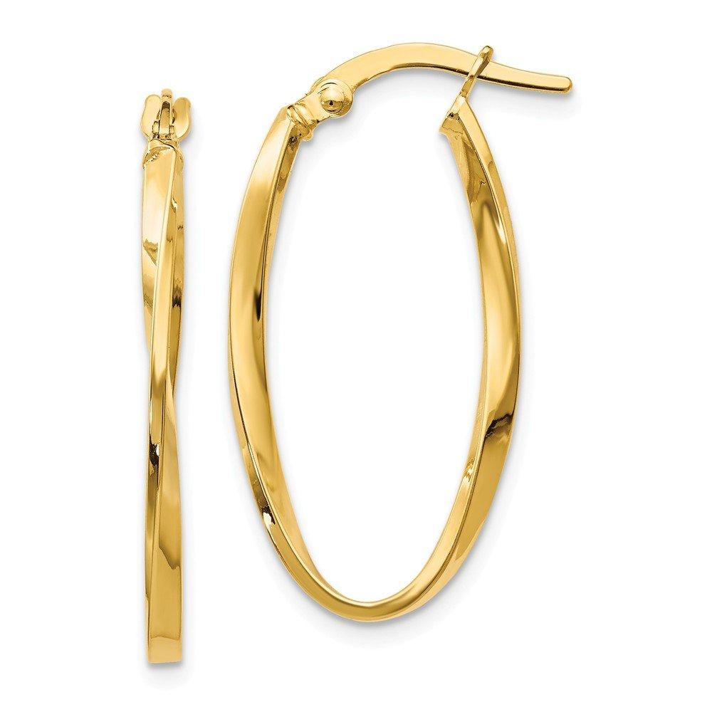 Best Birthday Gift Leslies 14k Twisted Oval Hoop Earrings