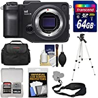 Sigma sd Quattro H Digital Camera Body with 64GB Card + Case + Tripod + Sling Strap + Kit