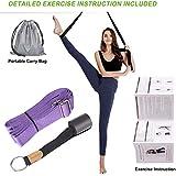 UBING Leg Stretcher, Leg Flexibility Door Stretcher Strap for Ballet Cheer Gymnastics Taekwondo Dancers with Detailed Exercise Instruction and a Portable Carry Bag