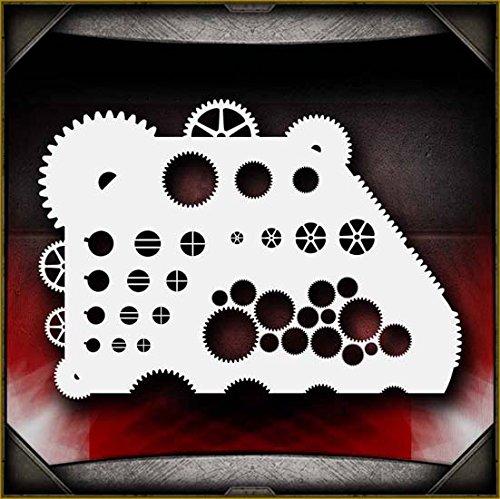 Gear Master AirSick Airbrush Stencil (Precision Gear Master)