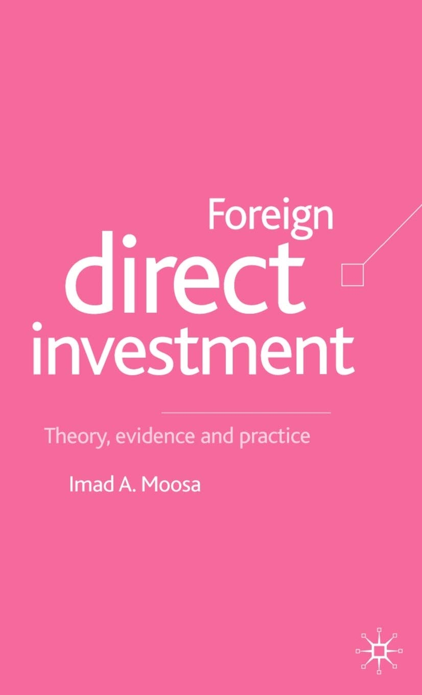 Foreign direct investment theory evidence and practice by imad a. moosa investmentfonds vergleich autoversicherungen