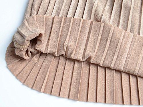 plissettato Kaci Pantaloni Anna Donna Marrone Basic E7q1PxA
