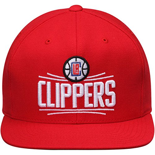 online retailer 66c47 ea0bc Amazon.com  Mitchell   Ness Los Angeles Clippers Red Block HWC Vintage  Solid Wool Adjustable Snapback Hat NBA  Clothing
