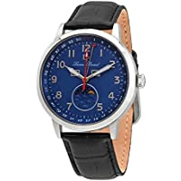 Lucien Piccard Blue Dial Mens Leather Watch 40016-03