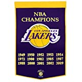 "Los Angeles Lakers Winning Streak Genuine Wool Dynasty Banner (24""x36"")"