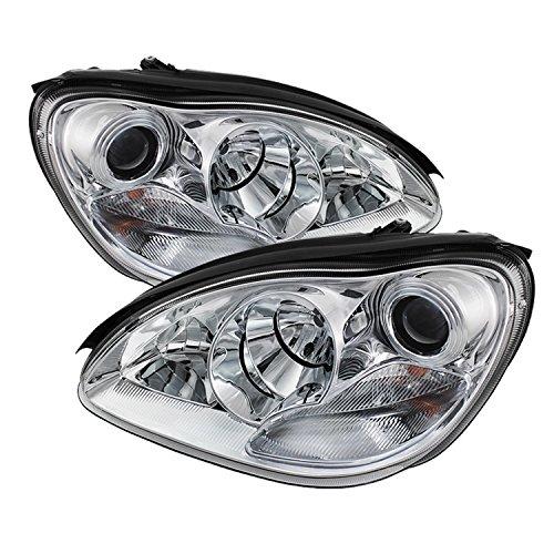 Spyder Auto (PRO-YD-MBW220-C) Mercedes-Benz S-Class Chrome Halogen Projector Headlight
