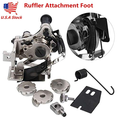 Sewing Machines Ruffler Presser Foot Industrial Electric Multifunction Sewing Accessories Attachment Presser Foot Consew Singer