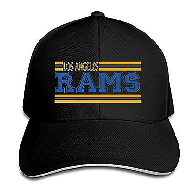 NUBIA Los Angeles Ram Unisex Hat Snapback Hat Black