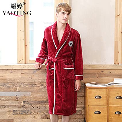 a76c8b03d72e Amazon.com  MH-RITA New Flannel Pajamas Nobler And Warm Long Sleeved ...