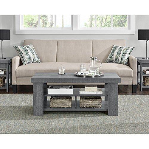 Ameriwood Home Jensen Coffee Table, Multiple Colors (Coffee Table, Gray Oak)