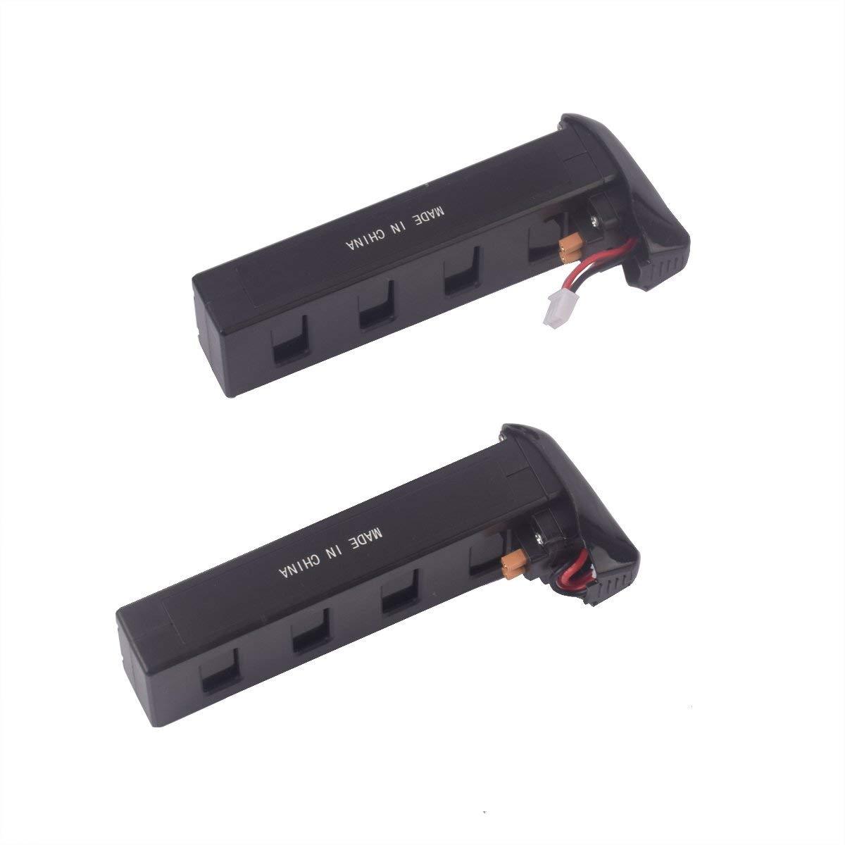 YouCute 2pcs 7.4V 1800mAh Battery for Bugs 3 Mjx B3 Force1 F100,Contixo F17 RC quadcopter drone spare parts 2PCS 1800mAh batteries