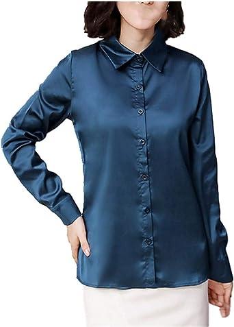 N\P Camisa de felpa para mujer de manga larga cálida de ...