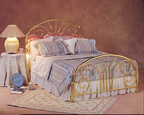 Hillsdale Furniture 1069BF Jackson Bed Set, Full, Classic Brass Plate