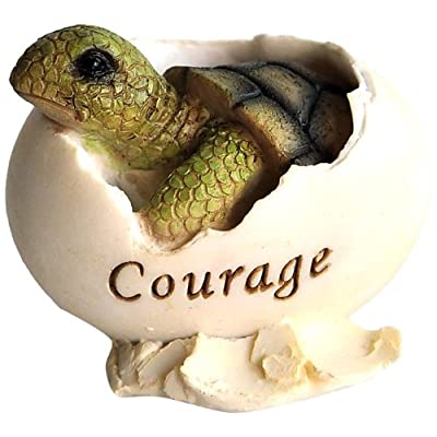 Top Collection Miniature Fairy Garden and Terrarium Inspirational Baby Sea Turtle Hatching Courage Statue: Garden & Outdoor