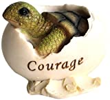 Top Collection Miniature Fairy Garden and Terrarium Inspirational Baby Sea Turtle Hatching Courage Statue Review