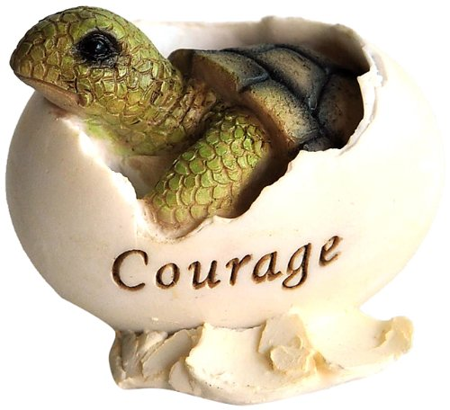 Top Collection Miniature Fairy Garden and Terrarium Inspirational Baby Sea Turtle Hatching Courage Statue - Finely Hand Painted Ceramic