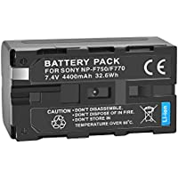 UTEBIT NP-F750 / NP-F770 Lithium Battery 7.4V 4400mAh Replacement Battey Pack NP-F330 for Sony Camera Camcorder and Led Filming Lights PT-176S / 160S / 204S / PT-12B / 15B / 30B
