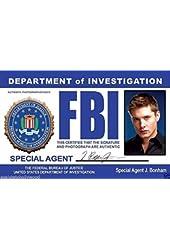FBI Special Undercover Agent J. Bonham Jensen Ackles (Dean Winchester) Novelty Drivers License / Fake I.d. Identification for Supernatural Fans