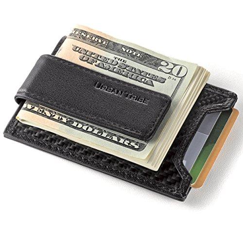 05. Secure, Slim Carbon Fiber Money Clip Wallet, RFID Card Holder with Leather Clip