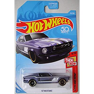 Hot Wheels Then and Now 4/10, Purple '67 Mustang 315/365 50TH Anniversary Card: Toys & Games