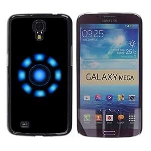 Be Good Phone Accessory // Dura Cáscara cubierta Protectora Caso Carcasa Funda de Protección para Samsung Galaxy Mega 6.3 I9200 SGH-i527 // Blue Lights