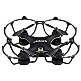 Virhuck GB202 Mini Drone 2.4GHz 4CH 6-AXIS GYRO Multicolor LED, Little Nano RTF Quadcopter with 3D Flips Christmas Gift, Black