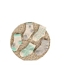 Evelin LEE Infant Newborn Baby Toddler Soft Socks 5 Pairs Crew Walkers Newborn Gift