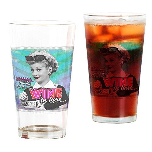 - CafePress I Love Lucy: Wine Pint Glass, 16 oz. Drinking Glass