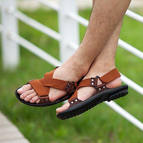Xing Lin Sandalias De Verano Transpirable Zapatos De Hombre _ Nuevos Hombres Casual Sandalias De Playa De Hombres Transpirable Zapatos Sandalias Zapatos De Hombre Ola brown